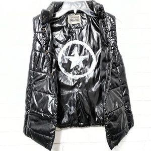 Converse: Black Puffer Vest